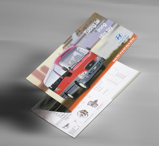 Thiết kế Brochure công ty huyndai