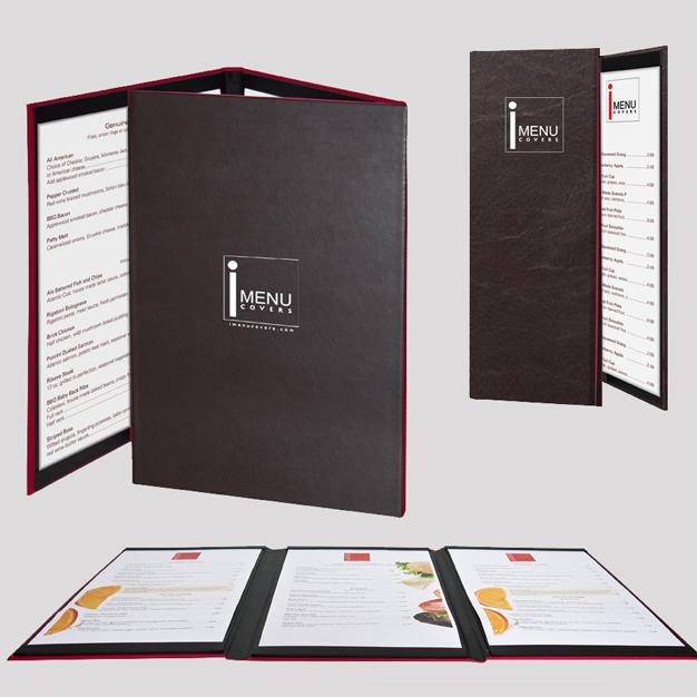 Thiết kế menu bìa da