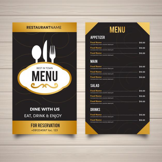 restaurant-menu template in flat design