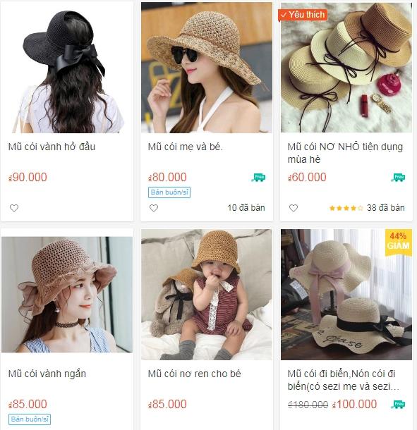 Sản phẩm mũ cói Việt Nam