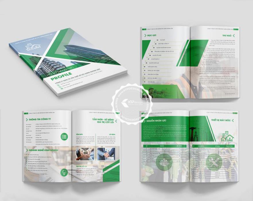 Nội dung cuốn hồ sơ năng lực công ty