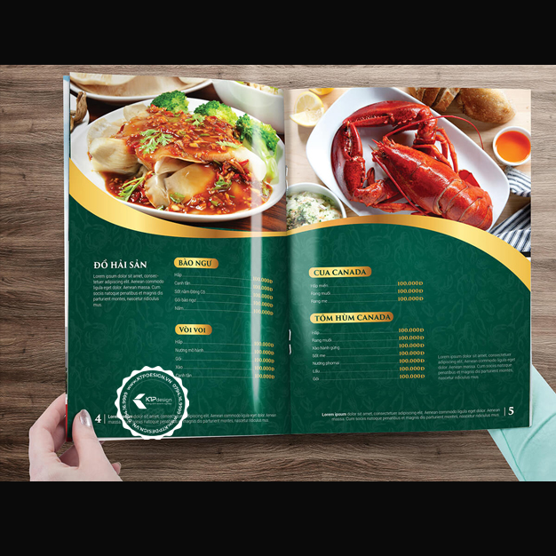 Thiết kế menu nhà hàng lẩu
